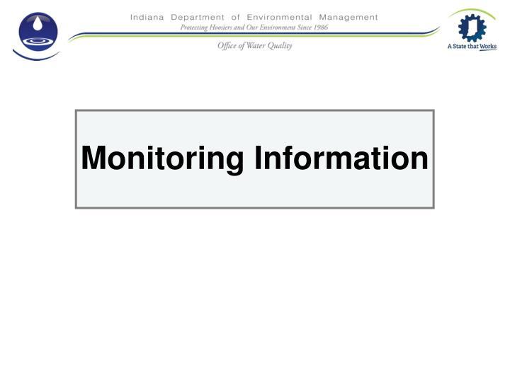 Monitoring Information