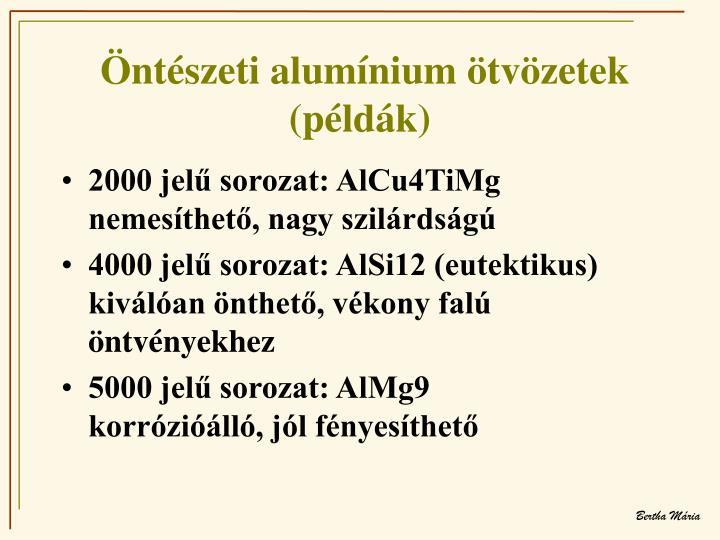 Öntészeti alumínium ötvözetek