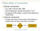 other kinds of constraints
