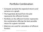 portfolio combination