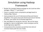 simulation using hadoop framework