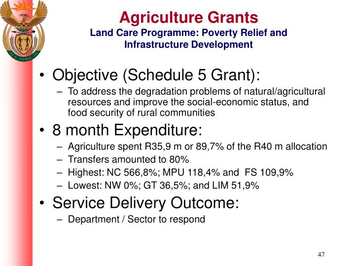 Agriculture Grants