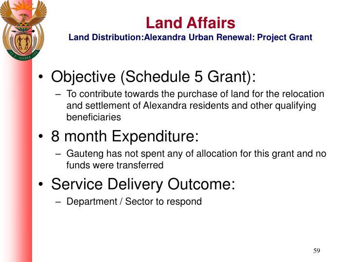 Land Affairs