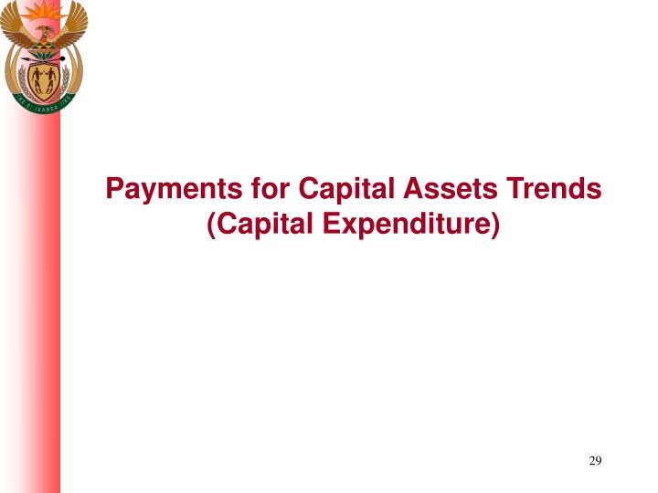 Payments for Capital Assets Trends (Capital Expenditure)