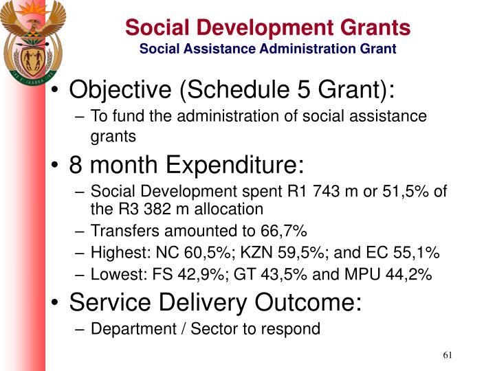 Social Development Grants