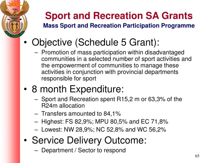 Sport and Recreation SA Grants
