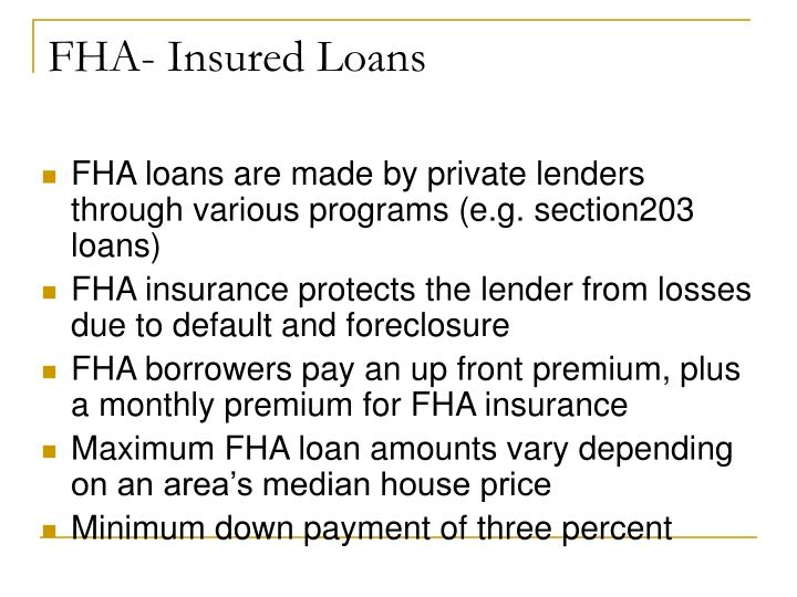 FHA- Insured Loans