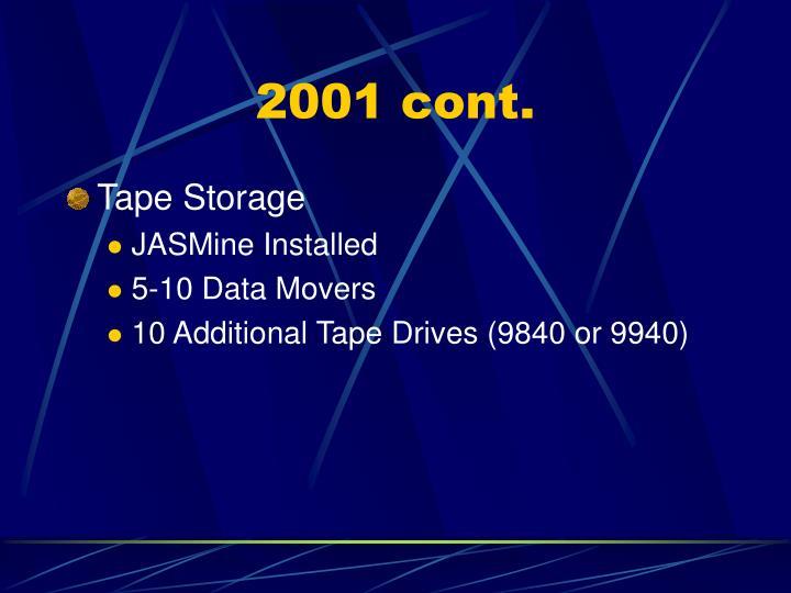 2001 cont.