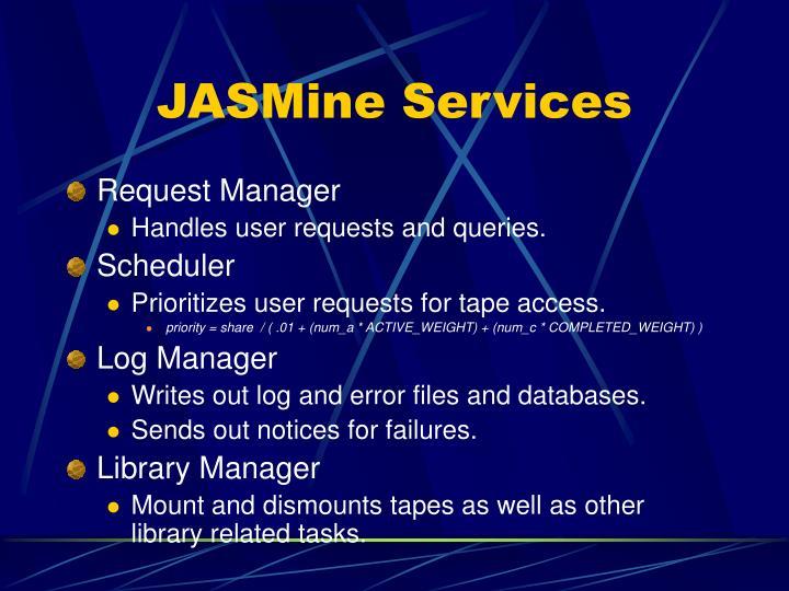 JASMine Services