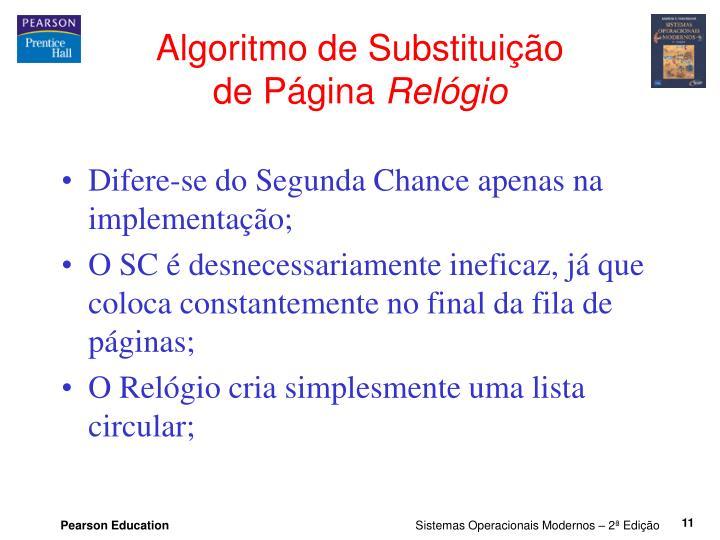 Algoritmo de Substituição
