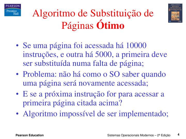 Algoritmo de Substituição de