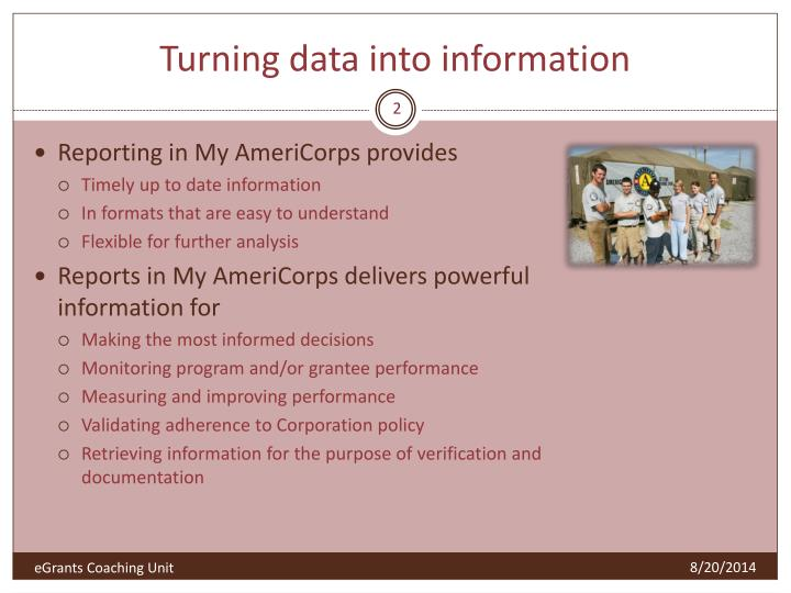 Turning data into information