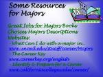 some resources for majors