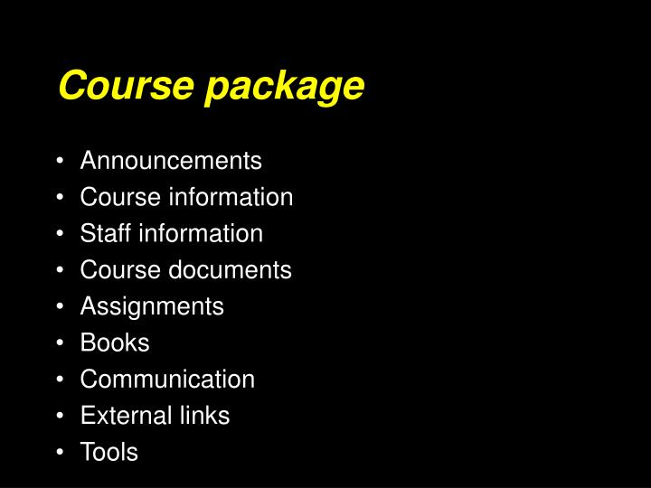 Course package