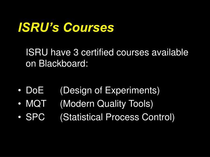 ISRU's Courses