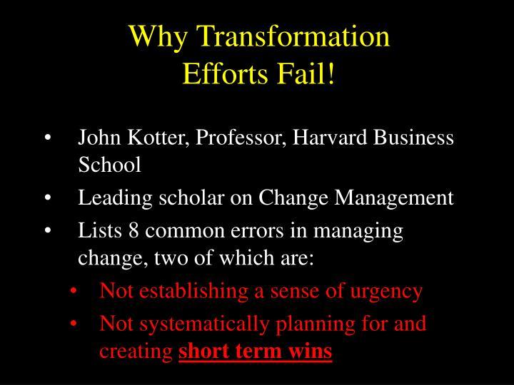 Why Transformation