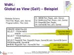 wdh global as view gav beispiel