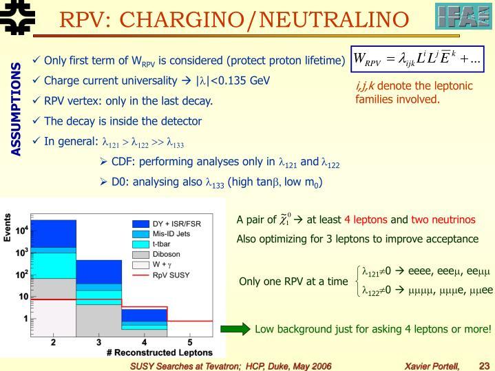 RPV: CHARGINO/NEUTRALINO