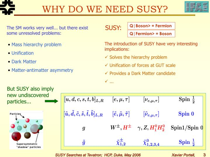 WHY DO WE NEED SUSY?