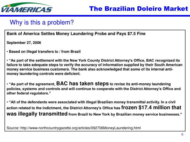 The Brazilian Doleiro Market