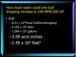 how much water could one gull dropping increase to 200 mpn 100 ml