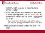 code red indicates that a fire condition exists
