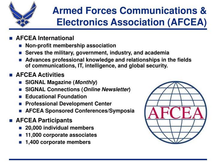 armed forces communications electronics association afcea n.