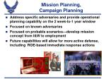 mission planning campaign planning