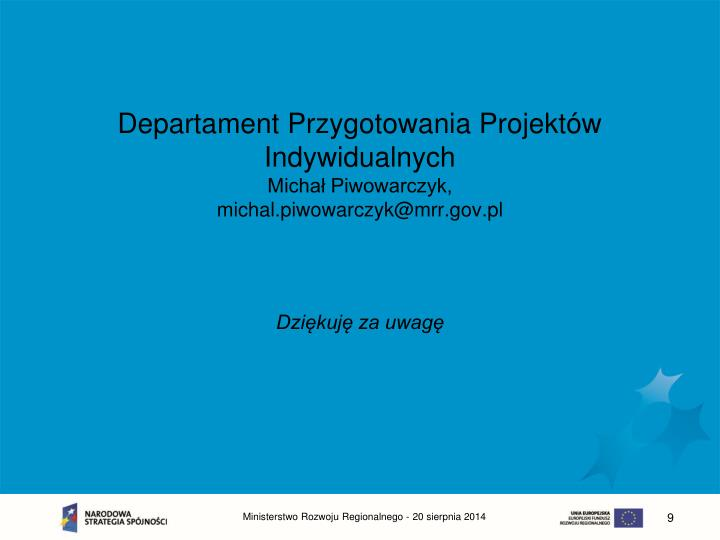 Departament Przygotowania Projektów Indywidualnych