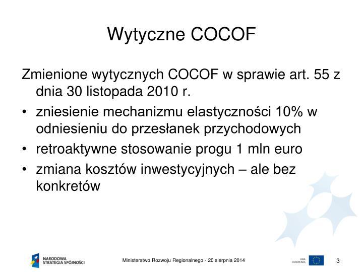 Wytyczne cocof