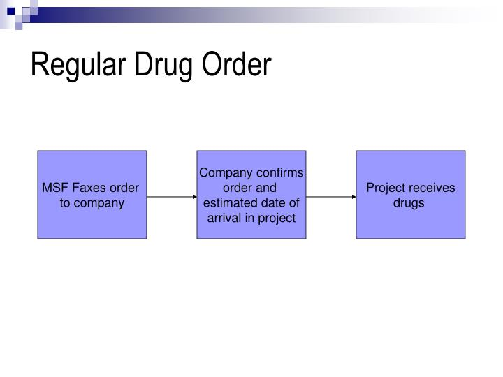 Regular Drug Order