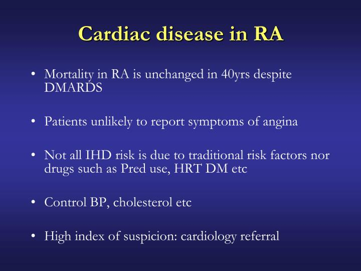 Cardiac disease in RA