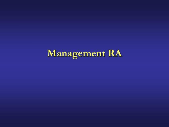 Management RA
