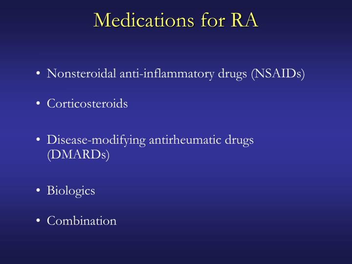 Medications for RA