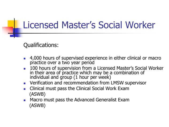 Licensed Master's Social Worker