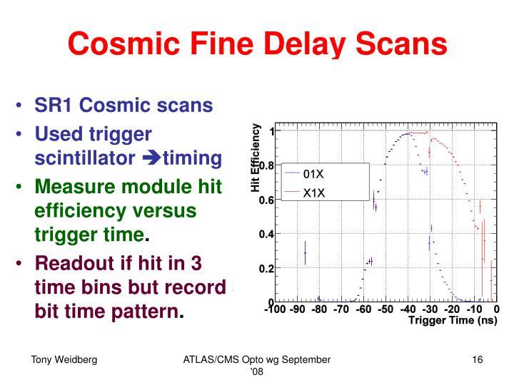 Cosmic Fine Delay Scans