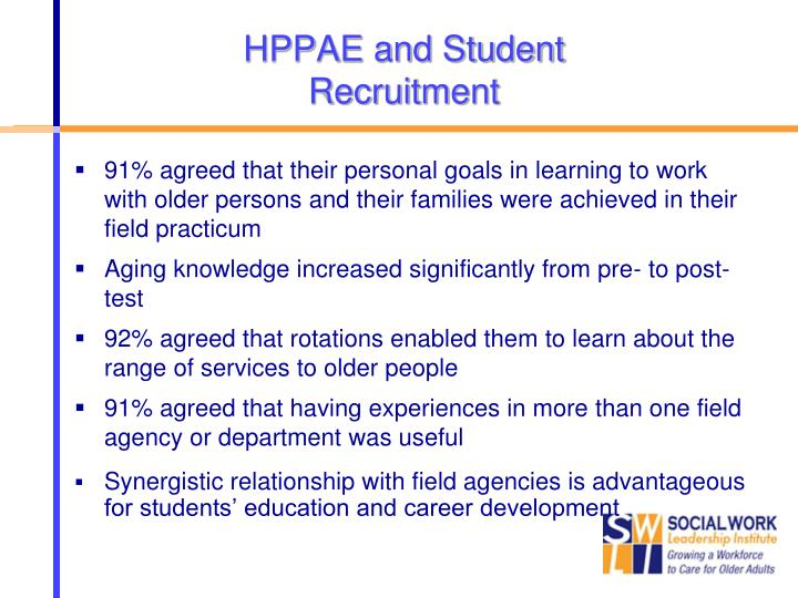 HPPAE and Student Recruitment