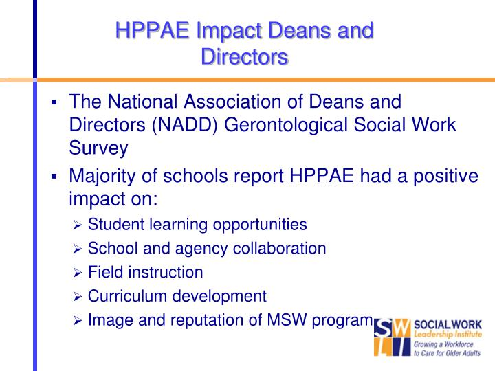 HPPAE Impact Deans and Directors