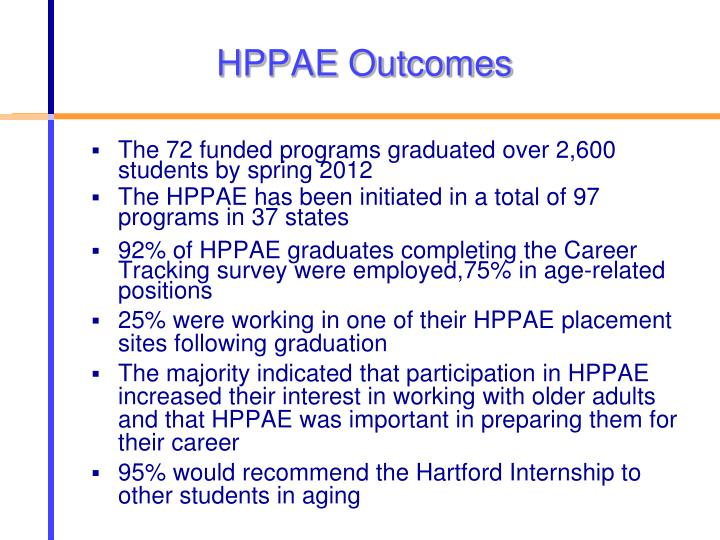 HPPAE Outcomes