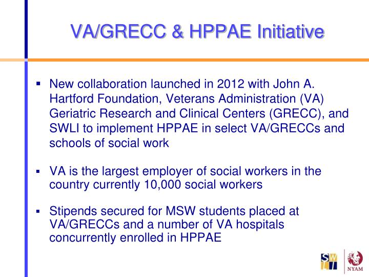 VA/GRECC & HPPAE Initiative
