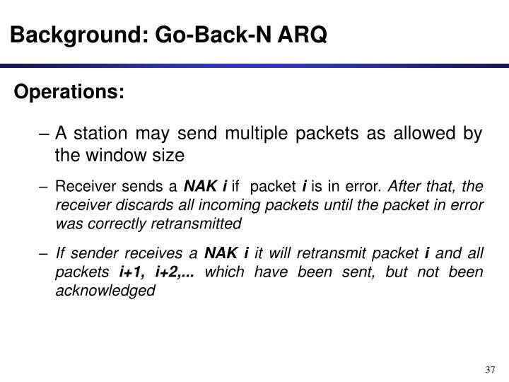 Background: Go-Back-N ARQ