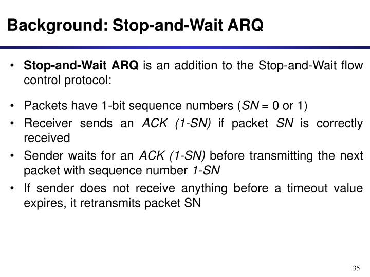 Background: Stop-and-Wait ARQ