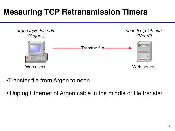 Measuring TCP Retransmission Timers