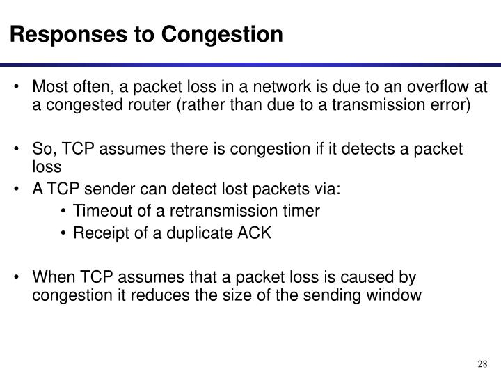 Responses to Congestion