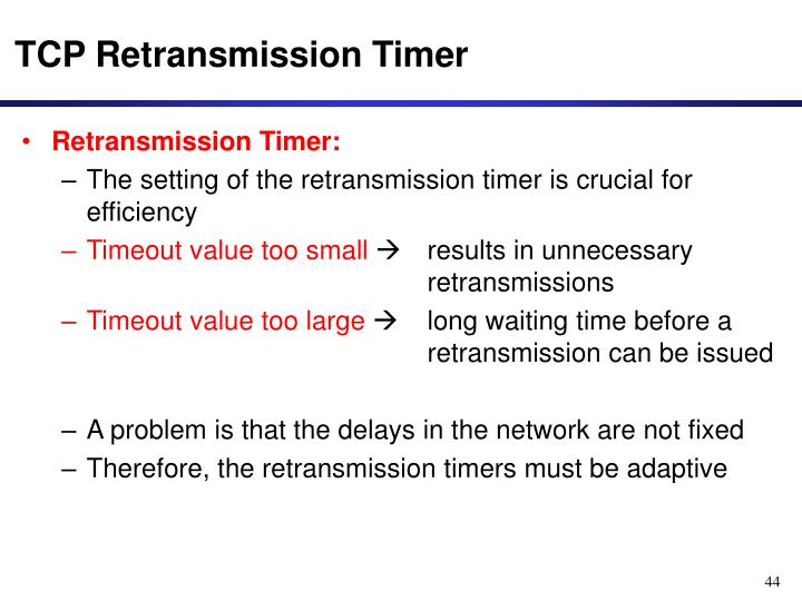 TCP Retransmission Timer