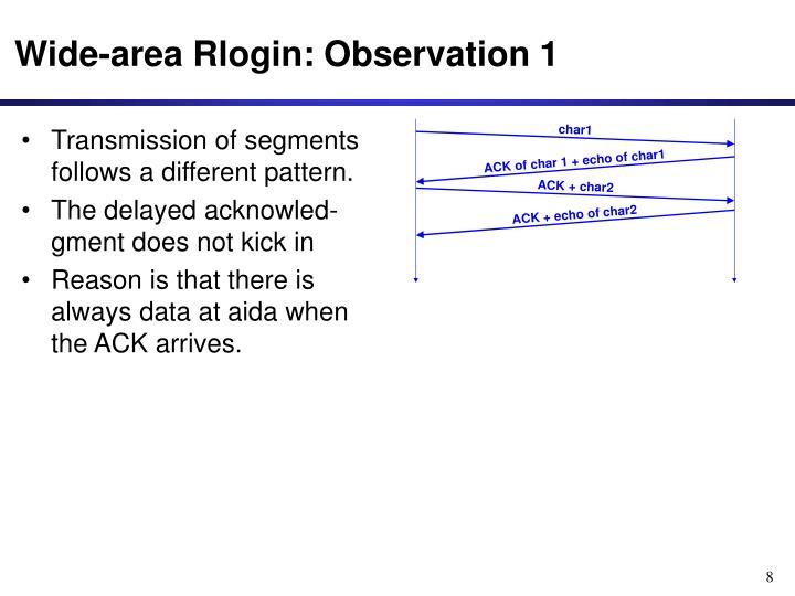 Wide-area Rlogin: Observation 1