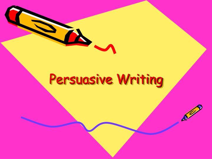 persuasive writing n.