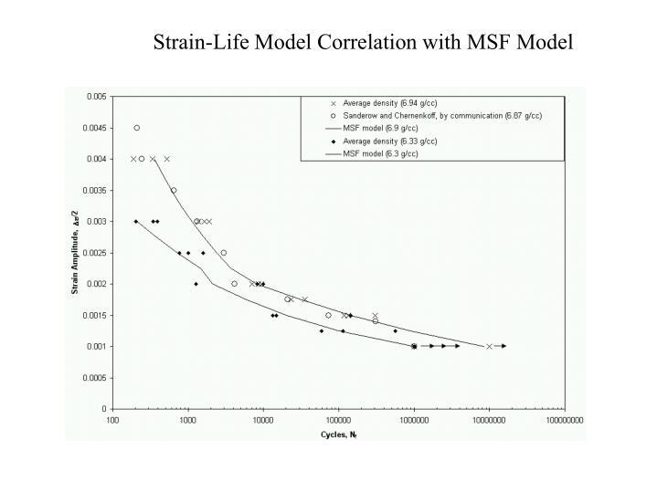 Strain-Life Model Correlation with MSF Model