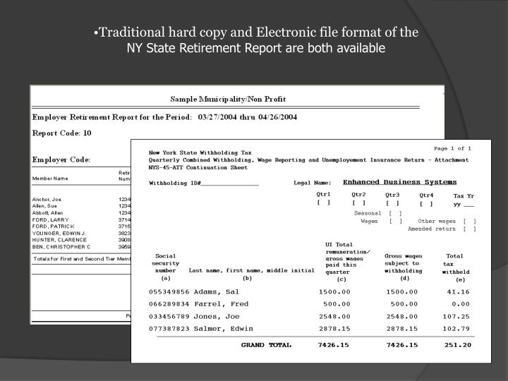 Traditional hard copy and Electronic file format of the