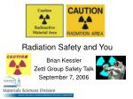 radiation safety and you